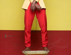 Tolani Red on Yellow New Work, Behance, Yellow, Gallery, Check, Red, Fashion, Moda, Fashion Styles