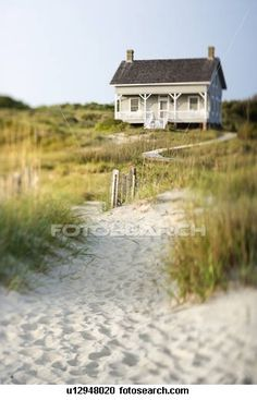 Charlie's Station, a rental cottage on the south-east tip of Bald Head Island, NC. A quaint old cottage with olde-time charm (no air-conditioning). One of a handfull of old cottages for summer rental I understand. I would love to life some place like this!