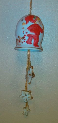 Vintage  Jasco ? Christmas  Chimes Boy & Puppy Bell