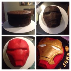 Iron Man Cake www.facebook.com/foodfiend