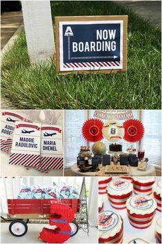 airplane birthday party ideas www.spaceshipsandlaserbeams.com