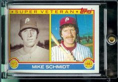 1983 Topps Baseball Card # 301 Mike Schmidt Philadelphia Phillie Shipped In A Protective Screwdown Display Case! by Topps. $2.95. 1983 Topps Baseball Card # 301 Mike Schmidt Philadelphia Phillie Shipped In A Protective Screwdown Display Case!