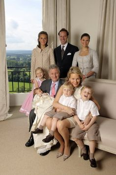 princess eleonore with her family and godparents