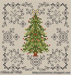 Image result for free christmas tree cross stitch patterns