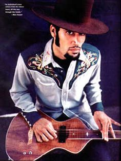Ben Harper with his Asher Signature Model
