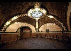 abandoned City Hall subway station - NYC, last used December 1945.