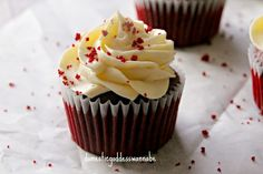 Red Velvet Cupcakes With Cream Cheese Swiss Meringue Buttercream