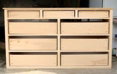How to build a dresser - Learn how to build a DIY dresser with this in-depth step-by-step tutorial and free design plans by Jen Woodhouse of The House of Wood. Building Furniture, Diy Furniture Plans, Furniture Projects, Furniture Design, Furniture Stores, Bedroom Furniture, Furniture Repair, Small Furniture, Furniture Outlet
