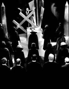 "Boris Karloff presides over an art deco Black Mass in ""The Black Cat"" (1934)"