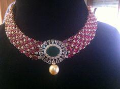 Very best diamond choker necklaces 7944 Bead Jewellery, Beaded Jewelry, Gold Jewelry, Jewlery, Lotus Jewelry, Diamond Jewellery, Jewellery Designs, Latest Jewellery, Gemstone Jewelry