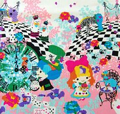 2014 Kayo Horaguchi -Twin Little Stars x Alice in Wonderland - PInk cotton - 50cm - Japanese - Japan