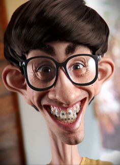 Geek is the new sexy! by Marcos de Moraes Sampaio | Caricature | 3D | CGSociety