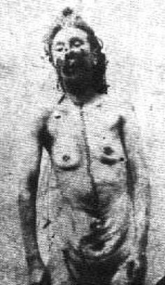 The Five Known Victims of Jack the Ripper (Caution - Some pictures are graphic and gruesome)Catherine Eddows body