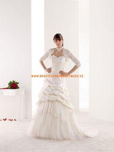 2014 Sexy Brautkleider aus Spitze und Satin mit Softnetz