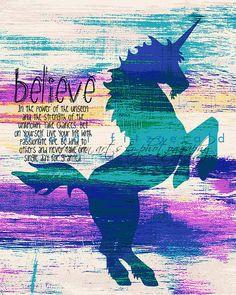 Poder del unicornio. Vivero mística decoración por BrandiFitzgerald