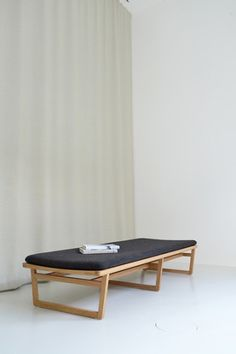 Marina Bautier Oak Bench - Specifications: Solid oak with clear matt lacquer. Solid oak bench with upholstered mattress. Bench Furniture, Plywood Furniture, Furniture Design, Oak Bench, Bench Designs, Furniture Inspiration, Wood Design, Palette, Interior Design