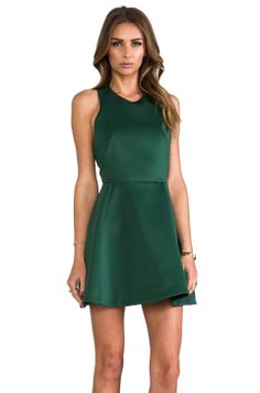 Cameo Blank Page Dress in Pine