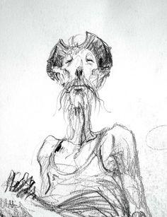 """MN Pajot - Quelques croquis retrouvés... """"Don Quichotte, la lecture"""""""