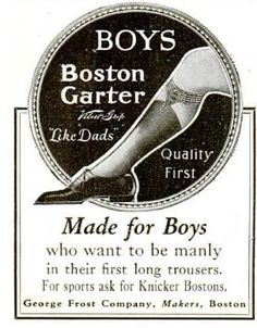 Made for Boys who want to be manly in their first long trousers.