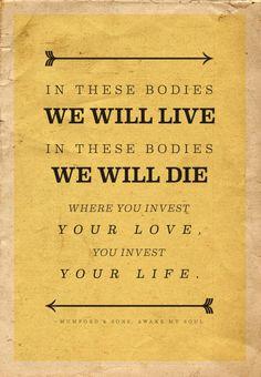 profound. 'Awake my soul' lyrics  Mumford & Sons