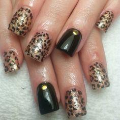 cheetah nails  ♥