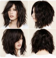 This is certainly the year of the shag haircut, which fits in perfectly with the contemporary-casual undone look that?s currently dominating hair fashion trends. The shag has always been considered a bit daring and rather unconventional. At the time, it Short Shag Hairstyles, Pretty Hairstyles, Hairstyle Ideas, Bob Haircuts, Edgy Medium Hairstyles, Hair Ideas, Razor Cut Hairstyles, Medium Choppy Haircuts, Modern Bob Hairstyles