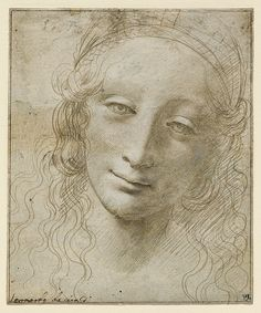Giovanni Antonio Boltraffio (Italian, c. 1467–1516), Head of a Woman, early 1490s etalpoint heightened with white on gray prepared paper, 5 7/8 x 4 7/8 in. (15 x 12.4 cm), The Clark, 1955.1470. © 2017 The Clark Art Institute