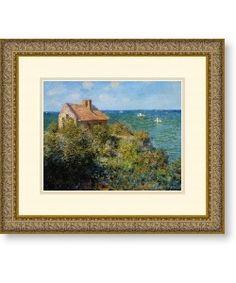 @Overstock - Artist: Claude Monet   Title: Fishermans Cottage on the Cliffs at Varengeville  Product Type: Framed art printhttp://www.overstock.com/Home-Garden/Claude-Monet-Fishermans-Cottage-Framed-Art-Print/3942147/product.html?CID=214117 $60.04