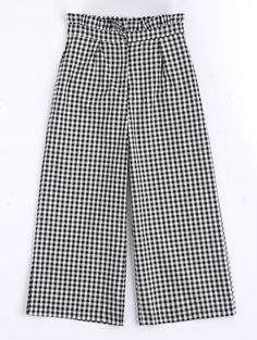 SHARE & Get it FREE | Plaid Ruffles Wide Leg Pants - Checked SFor Fashion Lovers only:80,000+ Items • New Arrivals Daily Join Zaful: Get YOUR $50 NOW!