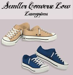 Semller Converse Low Tops - Lumysims LOVE IT!!!