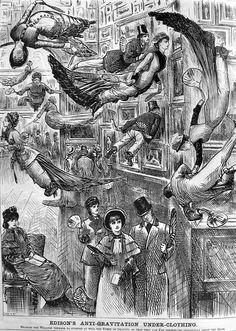 'Edison's Anti-Gravitation Underclothing', 1879 - Retronaut