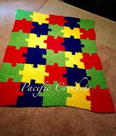 This is a autism awareness blanket that is adjustable to any size.