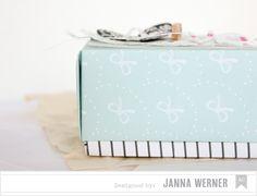 Janna Werner: American Crafts ♥ Valentine's Day Blog Hop | Origami Box - Dear Lizzy Daydreamer