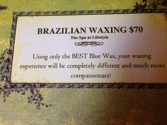 Did you know we offer Brazilian Waxing? It's unlike any wax you've had before, trust us! Call for appointment 215-364-8800 www.lifestyle-spa.com