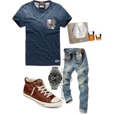 Untitled #181 by mayelin-decire-rodriguez on Polyvore featuring polyvore, fashion, style, Converse, Michael Kors and Yves Saint Laurent