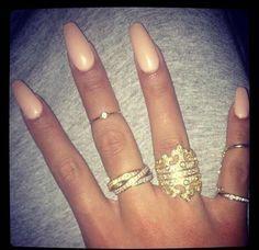 Love those almond shaped nails