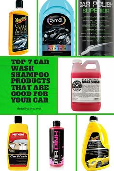 Car wash kit 10 auto detailing supplies you car care products top 7 car wash shampoo products that are good for your car car owners wash their vehicles several times a year to refresh their shiny exterior solutioingenieria Choice Image