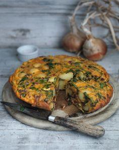 New Potato and Chorizo Tortilla from Chef Raymond Blancs new book Kew On A Plate