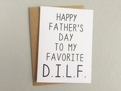 happy father's day dilf card