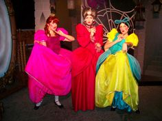 Lady Tremaine and the step sisters Drizella and Anastasia from Cinderella.