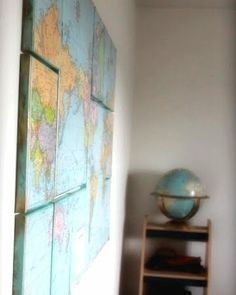 decoupage globes | Maps not only speak to the Globe trotter but to the ocean soul as well ...