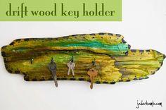 How to turn Driftwood into a key holder: {Using Silk Glazes by Lumin Arte}