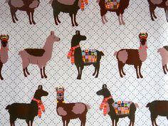 Oh! La Llama fabric by Laurie Wisbrun- I so need this in my life!