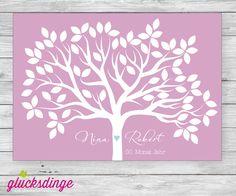 ♥ WEDDINGTREE ♥ Gästebuch mit Blättern (PDF Datei) von j-designerie - FEINE DRUCKSACHEN auf DaWanda.com