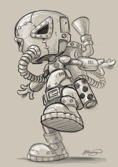 A collection of sketches, characters and toy design based on my love of the Steampunk genre