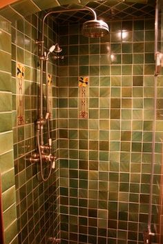 Craftsman Tile Design Ideas, Pictures, Remodel and Décor - A little too dark