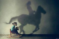 This was me when I was a little girl until I was put on a real horse for real!!!!!