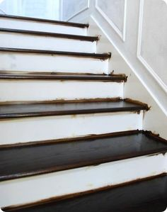Another great post on staining and painting a staircase.