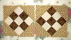 These Country Nine-Patch blocks illustrate the color value placement you'll have for each pair.