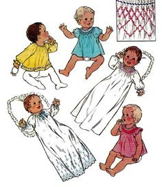Baby Layette Pattern Style 1989 Smocked by allthepreciousthings, $12.00